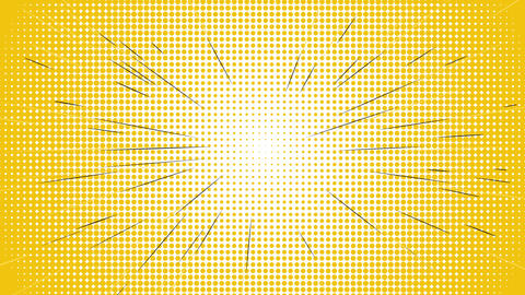 Comic speed radial on blue dotted Animation