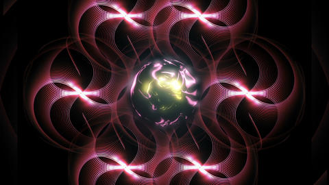 sphere and appearing wavy lines CG動画