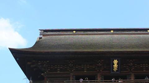 Japan's national treasure, Zenkoji./長野県、善光寺本堂。 Footage