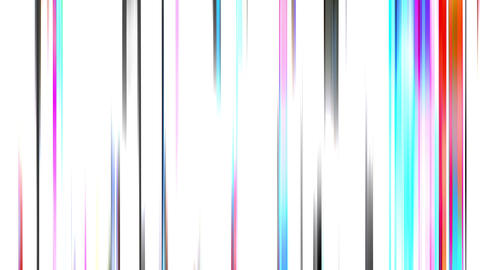 Broadcast Twinkling Vertical Bars Video Stripe On White Background Animation