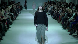Models show clothes at fashion show Footage