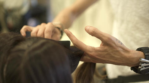 Haircut in a Hairdresser Footage