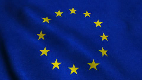 Flag of the European Union Animation