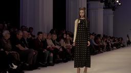 A model walks during a fashion show Footage