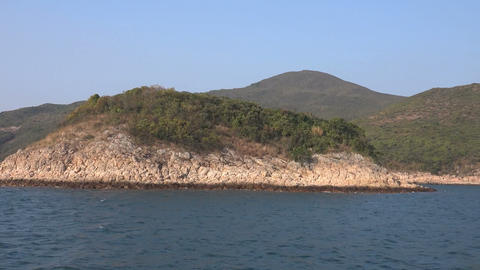 volcanic island Sai Kung Islands Footage