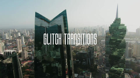25 Glitch Transitions Apple Motion Template