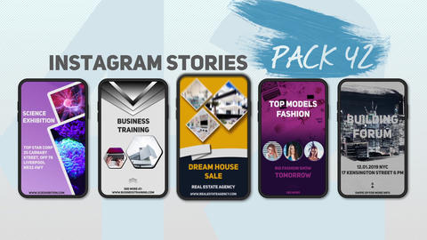 Instagram Stories Pack 42 After Effects Template