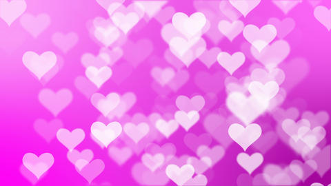 Heart glittering particle background CG動画