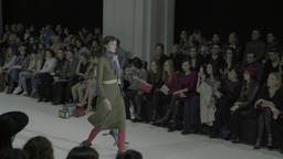 Models during a fashion show Footage