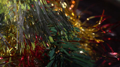 Macro view of plastic christmas ornaments Footage