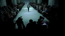 Large podium during fashion show Footage