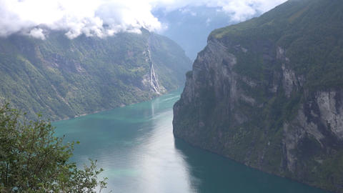 Norway geiranger fjord Footage