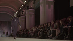 Demonstration of women's fashion fashion show Footage