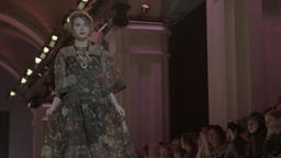 Model in a dress during a fashion show Footage