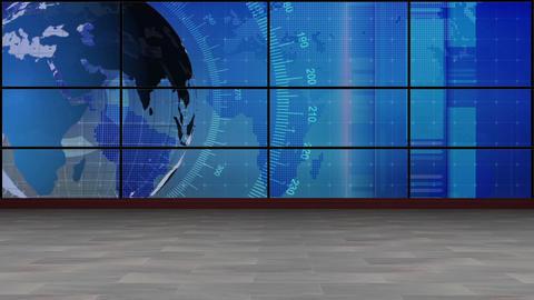 News TV Studio Set 210- Virtual Background Loop Live Action