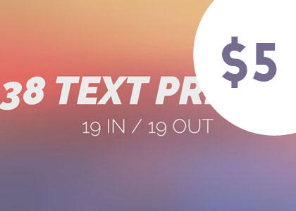 38 Kinetic Text Preset After Effect After Effects Template