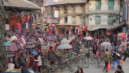 Bicycle rickshaw drivers waiting for customers,Kathmandu,Nepal Footage
