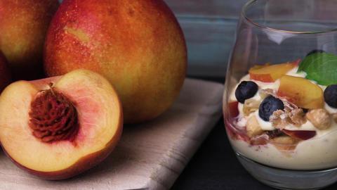 Cream and peach desert Footage