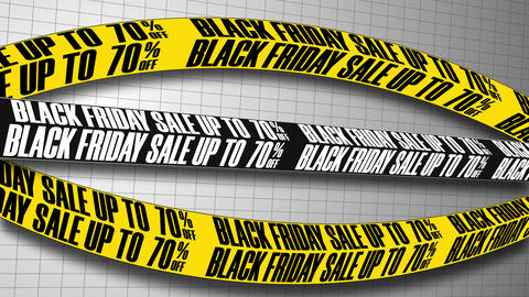 Seamless Loop Background With Text Message Black Friday Sale up to 70 Animation