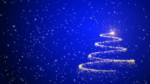 Christmas tree animation background Stock Video Footage