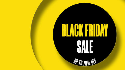 Black Friday Sale Up To 70 Percents Off Text Looping Animation In The Circle 8K GIF