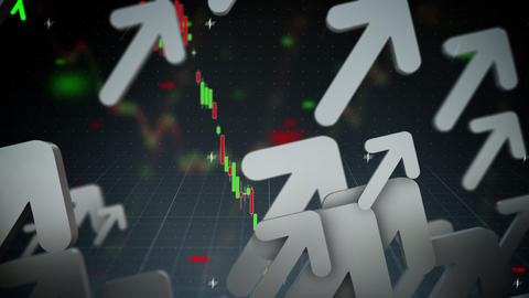 Business Arrows Up Loop stock footage