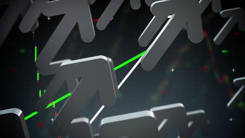 Business arrows up loop Stock Video Footage