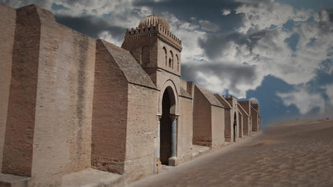 fortress iin the desert Stock Video Footage