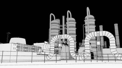 Chemical Plant Stock Video Footage