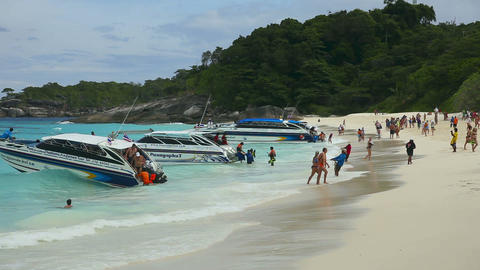 Similan Beach stock footage