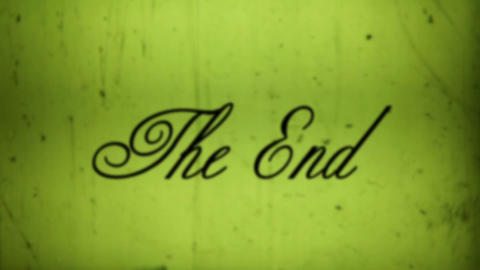 The End with sound Stock Video Footage