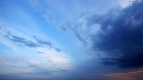 timelapse evening sky. video without the birds Footage