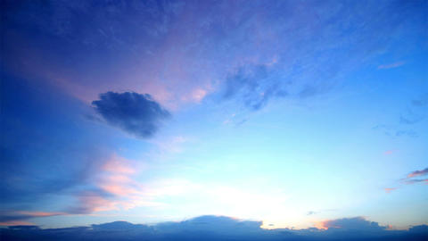 timelapse evening sky. video without the birds Stock Video Footage