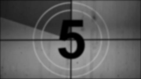 Universal countdown leader Stock Video Footage