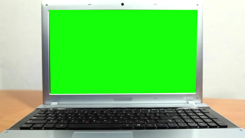 Notebook with a green screen Stock Video Footage