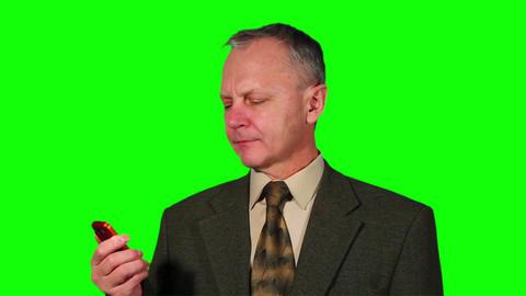 Chroma Key Footage of businessman Stock Video Footage