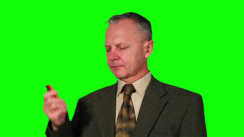 Chroma Key Footage of businessman Stock Video Footage