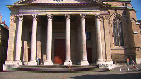 The St. Pierre Cathedral d Stock Video Footage