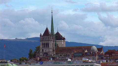 Geneva: The St. Pierre Cathedral Footage