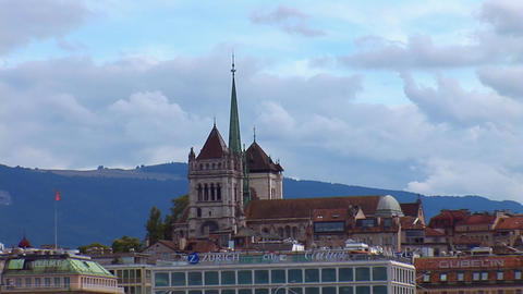 Geneva: The St. Pierre Cathedral Stock Video Footage