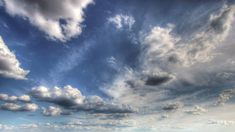 HDR time lapse of clouds Footage