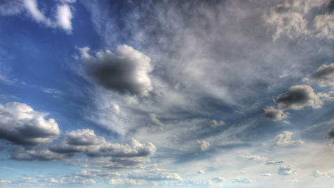 HDR time lapse of clouds Stock Video Footage