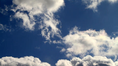 spring sky with beautiful clouds Stock Video Footage