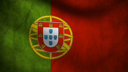 Portugal Flag stock footage
