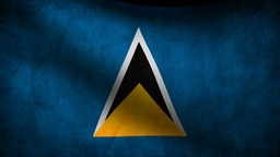 Saint Lucia flag Animation
