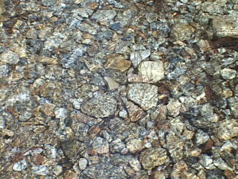 Clear water flows over river rocks Stock Video Footage