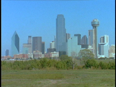 Skyscrapers tower over Dallas Footage