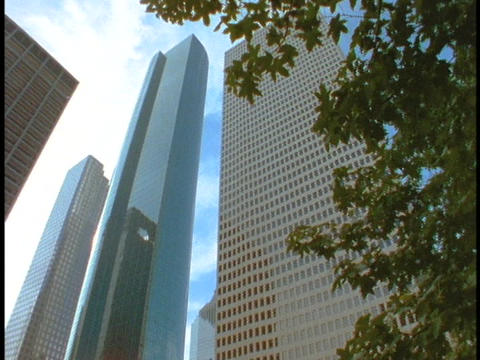 Skyscrapers tower over Houston Stock Video Footage