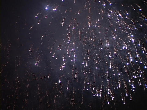 Fireworks light up the night sky Footage