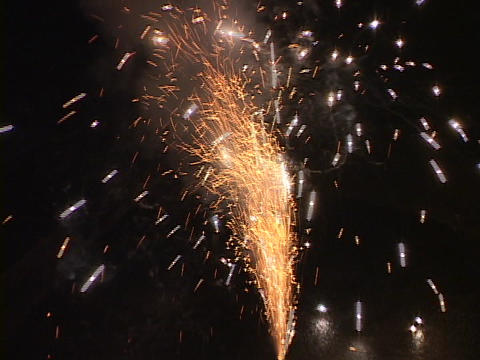 Fireworks explode in the sky Footage